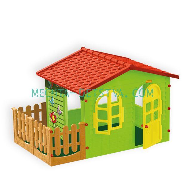 Домик с забором садовый 10498